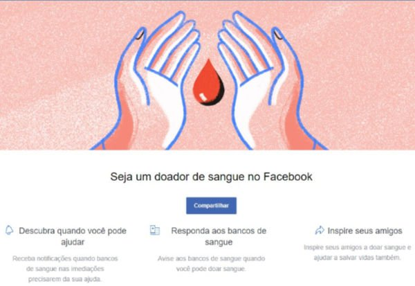 "Recurso ""Donate Blood"" do Facebook - Foto: Reprodução/Facebook"