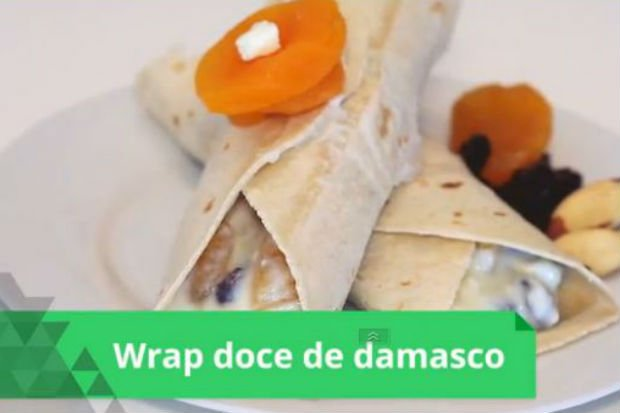 Wrap doce de damasco e ricota